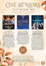 Ciné-Séniors : 3 films au choix