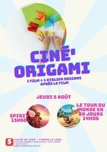 Ciné' Origami : 2 films au choix + 1 atelier manuel autour de l'Origami